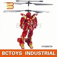 2014 fighting game flying robot gyro 2ch rc flight man shantou toys HY0069734