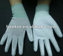 Manufacturer of ESD White PU Palm Fit Gloves