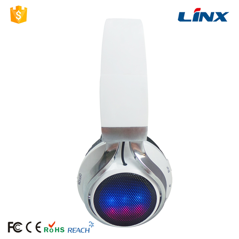 LED Light Glowing Ear Cap MP3 Wireless Bluetooth Headphone for Mobile Phone