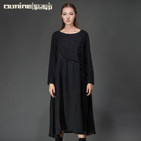 Outline New Design Long Sleeve Dress Embellished Eegant Women Casual Dress Maxi Dress