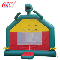 Indoor inflatable dinosaur bouncer, 0.55mm PVC inflatable bouncy castle for kids