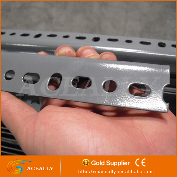 Manufecturing industrial metal dexion slotted angle steel shelving racks