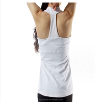 2015 high quality Wholesale Plain White gym yoga tank top for women