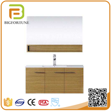 Mirrored single wash basin sink custom waterproof bathroom cabinet for home