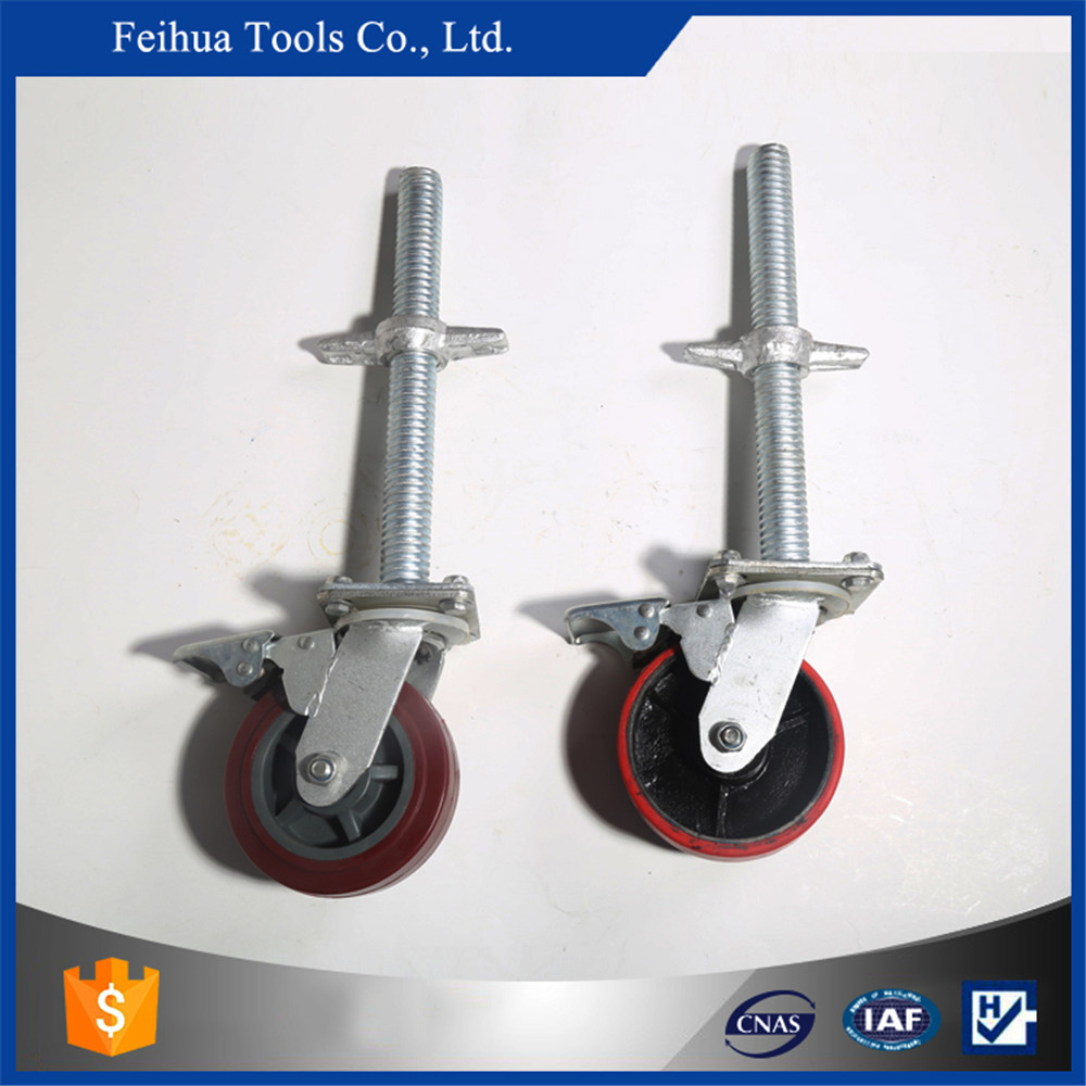 "Rubber, PU, nylon 4"",6""8"" inch,scaffolding caster wheels (with or without lock"