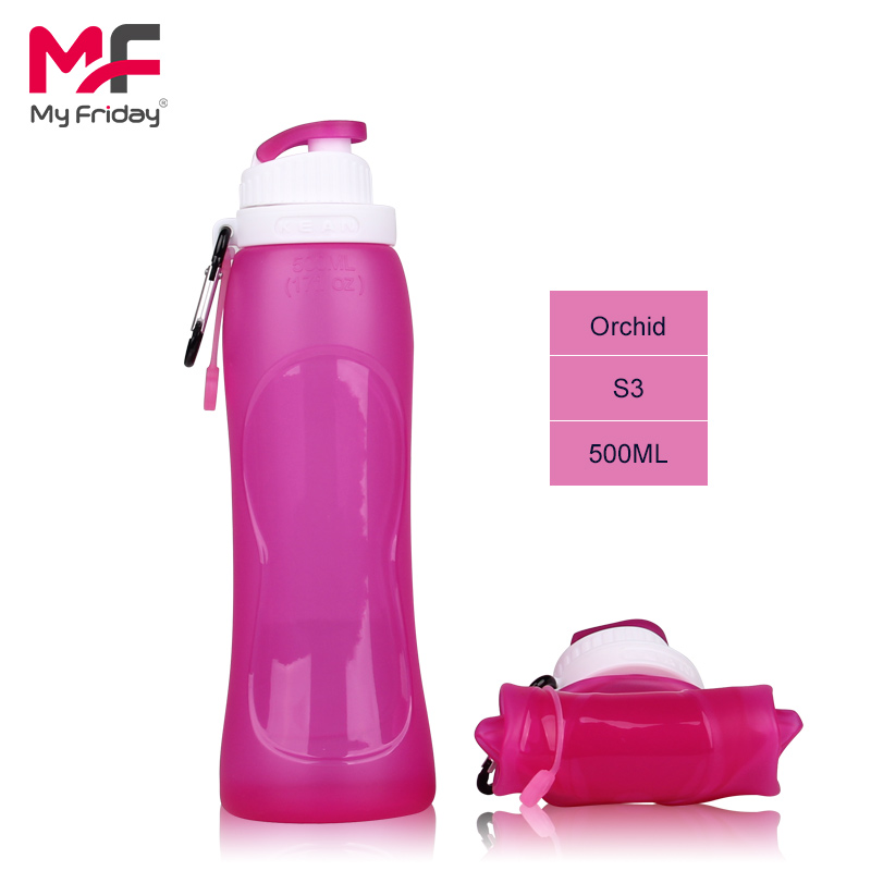2015 New design custom mold bpa free silicone 250ml plastic shaker bottle