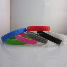 hotsale embossed logo silicone rubber wristbands/bracelets for giveaways