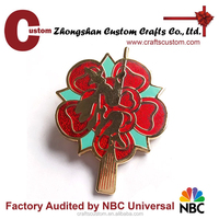 Custom cheap tree shaped lapel pin , trading lapel pin
