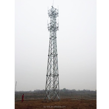 Hot dip Galvanized Self Supporting Steel Communication Tower