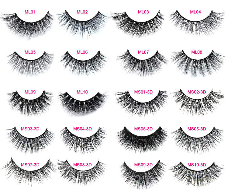High-grade Fluffy 2DY 3D W 4D 5D Russian Volume Lashes and Hollywood Lashes with OEM design