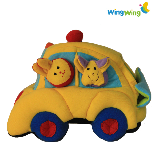 alibaba factory plush car toys for kids Gifts for children plush baby soft toy car