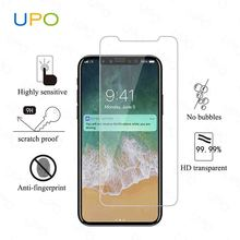 [UPO] New model for iPhone X/10 2.5 D Transparent Tempered Glass Screen Protector, Anti-Scratch Tempered Glass for iPhone