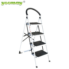 EN14183 approved 4 step ladder with steel material and orange color