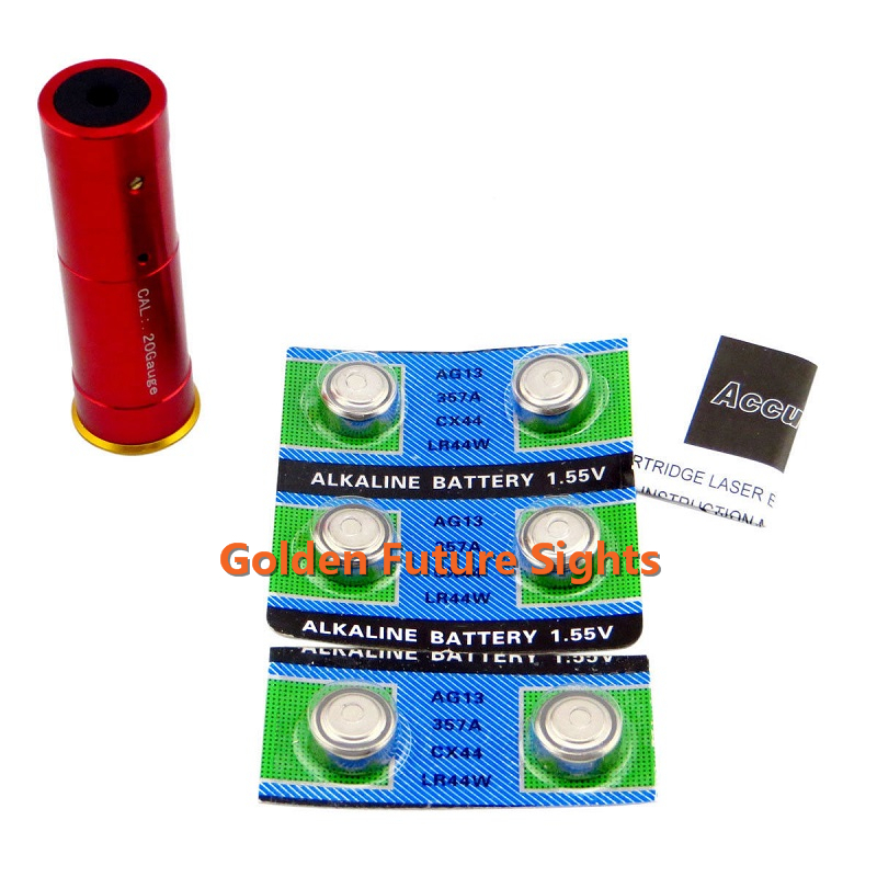 Cartridge Red Laser Boresighter for 20 Gauge caliber,Outdoor Hunting Bore sighter