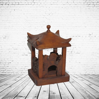 Wood Carving Art Craft Mini Pavilion
