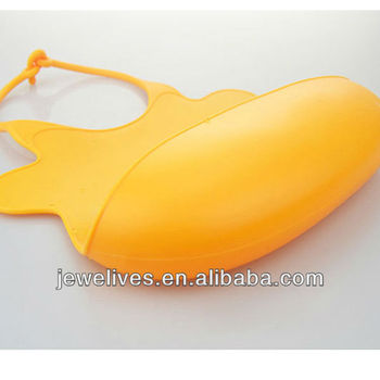 Animal shape printing customed baby silicone bibs