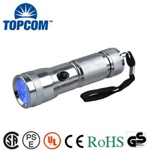 Made in CHN supplier high quality low price 14 led uv flashlight