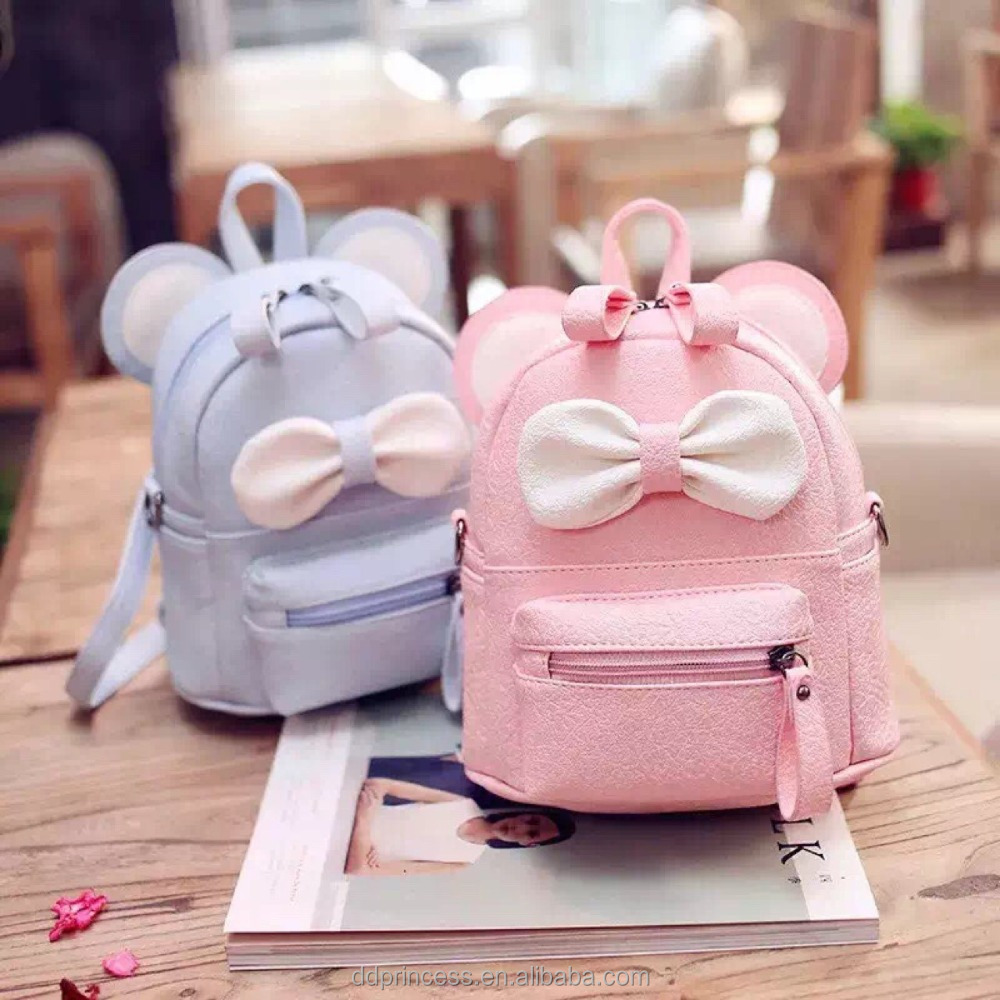 2017 fashion angel kiss bags pink blue PU shoulder bag for girls