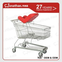convenient 150L large shopping trolley with sleeping seat
