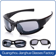 Sport 100%UV protective transparent lens motorcycle eyewear with nose guard