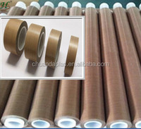 China Lowest price Teflon coated fiberglass fabric cloth with silicone adhesive Free samples