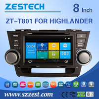 For Toyota Highlander in dash special car dvd player 2008 2009 2010 2011 2012 in dash special car dvd player Gps BT RDS 3G