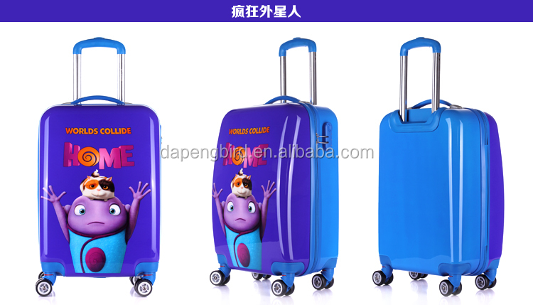 new design printing children travel trolley luggage bag
