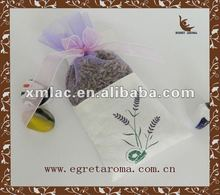 embroidery lavender dried flowers scented bag for home decoration