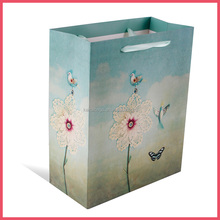 new beautiful flower butterfly paper bag for shopping
