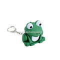 LED frog keychain with sound and keychain
