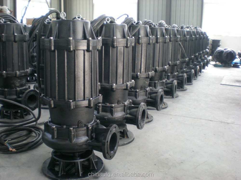 WQ types of sewage dredging used in line centrifugal submersible electric dewatering water pumps for sale