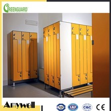 Amywell waterproof formica hpl colourful locker digital gym locker