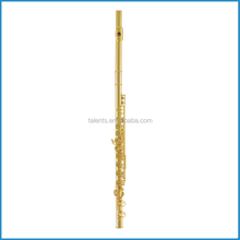 16 closed hole flutes, C key flutes manufactures, gold lacquer/silver plated flutes