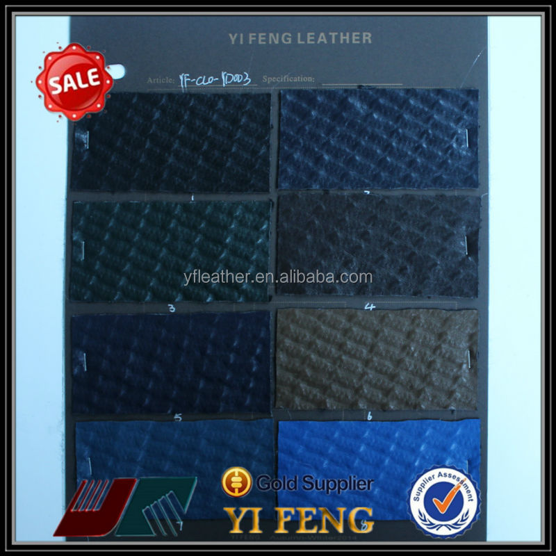 pu embossed leather material for clothes