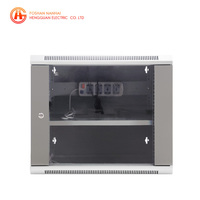 Home using small 19 inch assemble network rack 9u wall mount server cabinet in foshan