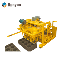 QT40-3A low investment plant fiber industrial slag concrete block making machine