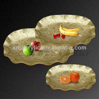 transparent acrylic fruit tray/plate