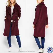 new fashion vintage wine red coat female winter panelled collar long jacket womens plus size most beautiful ladies coats picture