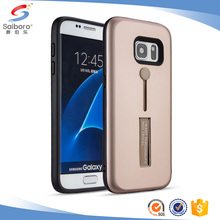 Best selling TPU PC kickstand phone cover case gold for Samsung galaxy s7