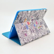 Cute Design leather case pouch for ipad 3 ipad 4, stand leather case for ipad 3