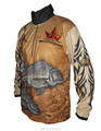 High Performance 1/4 Zipper Fishing Jersey Full Sublimation Printed Long Sleeve Fishing Shirt anti-uv Fishing Clothing