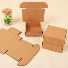 OEM rigid brown kraft paper cardboard box with lid template
