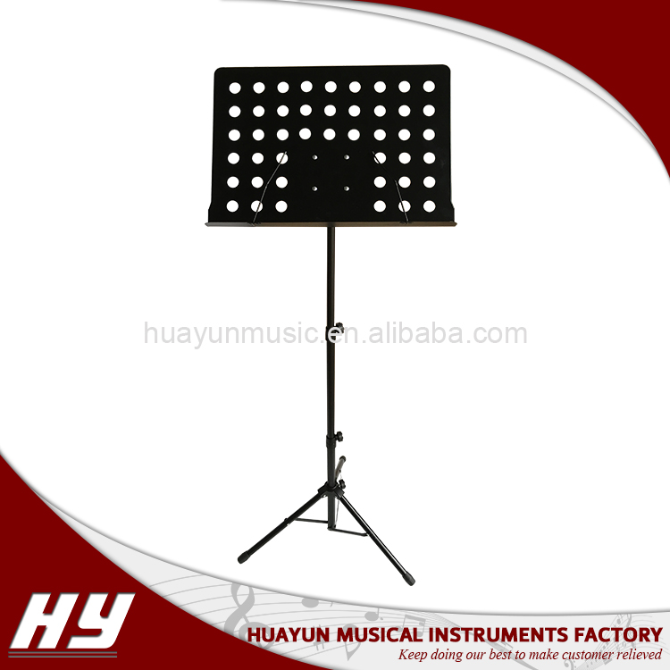 High quality aluminum head black music sheet stand