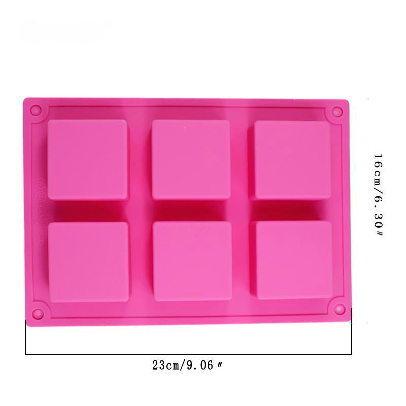 OEM ODM customized silicone rubber 4 5 6 cavity handmaking soap making molds