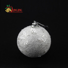 High Quality Personalized Decorated with Sequins Christmas Foam Bauble Decoration