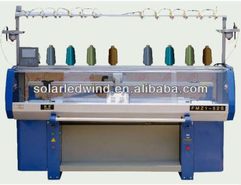 Single system computer flat knitting machine