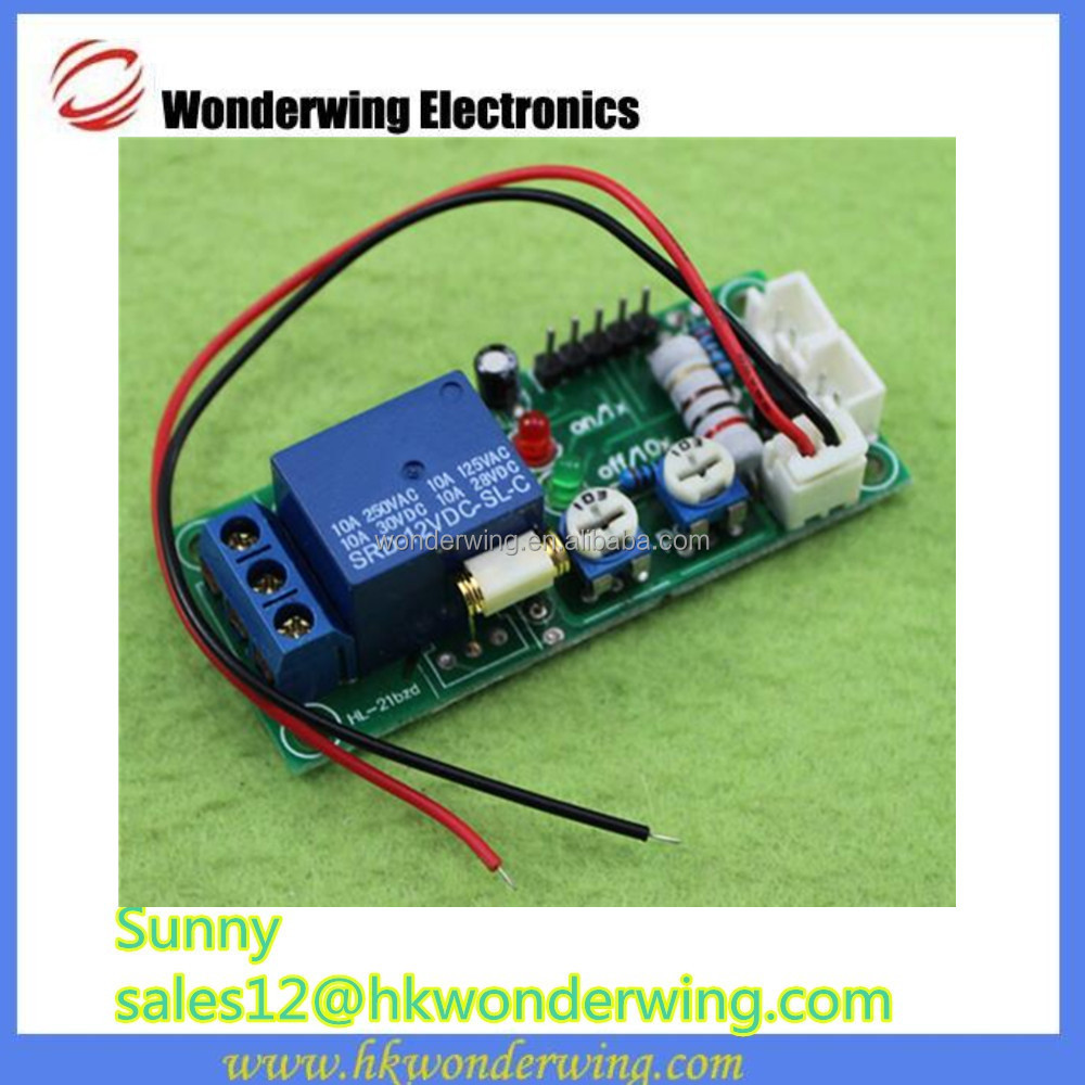 Vibration module/vibration sensor sensitivity and time delay relay switch adjustable (D2A1)