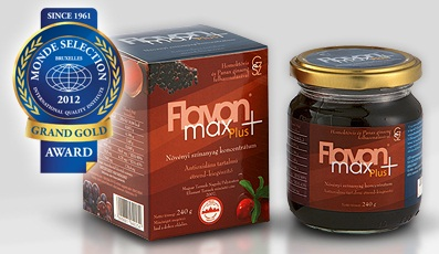 Dietary supplement with high antyoxidant content Flavon Max Plus from Europe