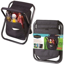 Black Backpack Cooler Seats Handy Picnic Cooler Chairs Food Carriers