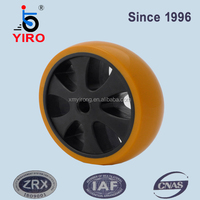 Durable hollow plastic wheel